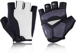 Gants de vélo Cyclisme Fingerless Gants pour les hommes Les femmes avec rembourrage en mousse respirante Design de mode de maillage pour la conduite Moto Vélo de montagne