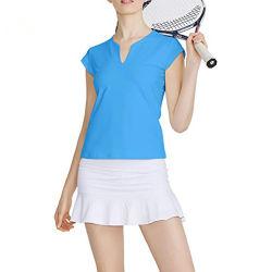 V首の女性のための偶然の方法ゴルフTシャツのスポーツの摩耗