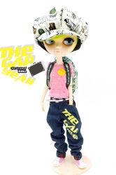 Tangkou Doll جسم مشترك ناري بليث دولل، R1 Red Hair Factory Doll، مناسب لـ DIY Change BJD Toy للفتيات