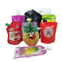 Doypack transparentes reutilizable personalizado el líquido se levantan los potitos Detergente cerveza jugo de la bolsa de embalaje de plástico Bolsa de descarga