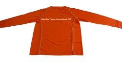 Orange Raglan Trocken-Befestigte langes Hülsen-T-Shirt für Mann