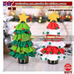 메리 크리스마스 장식 노벨티 트리 디자인 와인 병 커버 타사 제품(B5075)