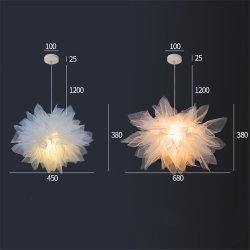 낭만주의 레이스 직물 공주 거실 침실 홈 예술 장식을%s 펀던트 전등 설비 펀던트 램프 LED 거는 램프