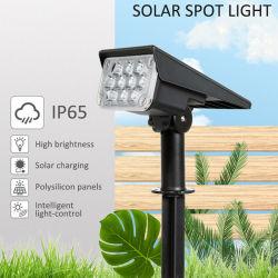 20LED регулируемый прожектор солнечной энергии солнечного света в саду IP65 Суперяркий пейзаж настенный светильник для использования вне помещений свет 6000K лампа солнечной энергии