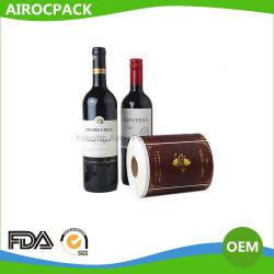 Garrafa de Vinho de papel etiqueta autocolante para copo de vinho