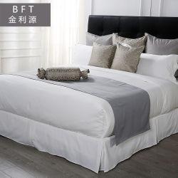 세트에 있는 순수한 백색 면 홈 또는 호텔 직물 위안자 침구