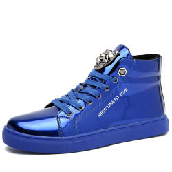Sola de borracha patentesuperior PU mídias físicas Board Homens Mulheres Casal Sneakerssize 39-44