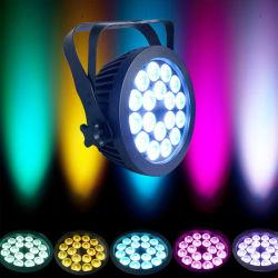 ファン無声働く18X18W 6in1 LED細い同価のスポットライト無し