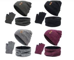 Warme Reeks voor Geplaatste de Handschoenen van de Halsdoek van de Sjaal van de Hoed van Dame Knitted