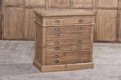 型無作法な様式の臨時の家具の天候の自然なカシの引出しの箱のキャビネット