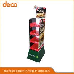 يتم تشغيل مجموعة الحامل الرفوف الأربع الموجودة على حامل بطاقات الأرضية منصة بلاستيكية