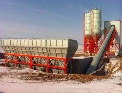 Luda Hzs60 60m3 planta mezcladora de concreto el procesamiento por lotes para construir el proyecto de pavimentación de carreteras