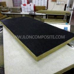 Tissu en fibre de verre noir pour l'isolation acoustique en laine de verre de bord