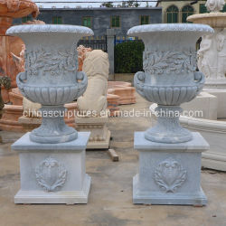 Jardín tallada en piedra de mármol decorativo Jarrón de la sembradora Maceta