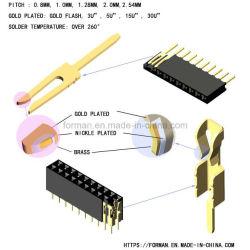 女性ヘッダの単一の列の倍の列のすくいのタイプおよびSMTのタイプシリーズコネクター