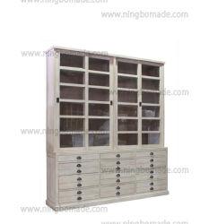 Страны Северной Европы антиквариата классической мебелью серого и темно-серый внутри ящиков четыре двери книжном шкафу
