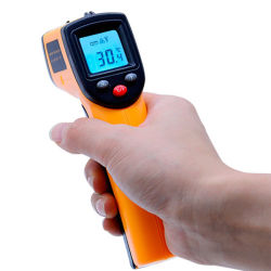 몸의 접촉이 없는 Laser LCD 디스플레이 IR 적외선 디지털 CF 선택 표면 온도 온도계 고온계 영상