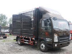 HOWO 4X2 veículo de carga com carga fechada Van para venda