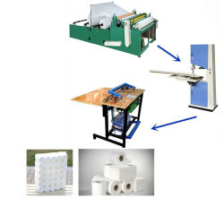 トイレティッシュペーパー巻き戻し付き / なしの熱品質の加工 コア付き / コアなしの成形機の完全完成生産ライン機械の製造