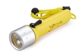 ألومنيوم الغوص مصباح كهربائيّ, مسيكة [إيب68] [لد] [كر] [إكسب] الغوص مشعل ضوء, [4ا] بطارية
