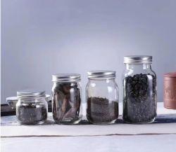 منخفضة [موق] طعام يعبّئ يشكّل زهرة شاي تخزين مرطبان [غلسّ ور] مع بلاستيكيّة غطاء فسحة [متّ] زجاجة