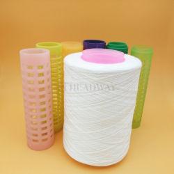 Sem nó 40/2 100% de fibras de poliéster bonderizado para alta velocidade de máquina de costura 100% de fibras de poliéster de fios de costura