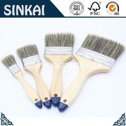 칠레 나무로 되는 손잡이 White&Black 강모 페인트 또는 페인트 붓