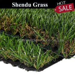 gazon van het Gras van 20mm het Plastic Valse Synthetische Kunstmatige met Dubbele Steun voor de Decoratie van het Landschap/van de Tuin