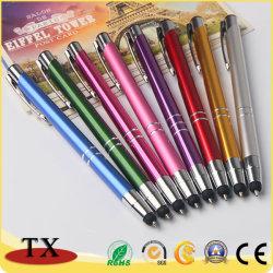 Promoção Personalizado colorido de alta qualidade publicidade bola de metal logotipo canetas de feltro