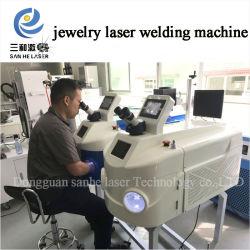 De gouden Draagbare Machine van het Lassen van de Laser van de Vlek YAG van de Laser van Juwelen Zilverachtige