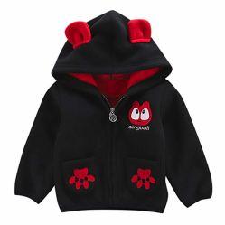 赤ん坊の幼児は女の子のための子供の衣服のHoodieの羊毛のジャケットに着せる