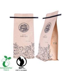 A impressão em cores 500g de folhas e tiras delgadas de alumínio Square Café inferior do saco com retenção de estanho