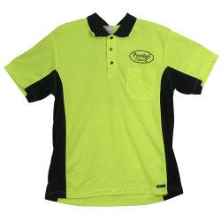 O OEM verde fluorescente Sports Polo T-shirt