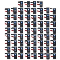 1 Stü Cke 12 v 24 v Auto Boot Wasserdicht bascule caravane Schalter interrupteur à bascule double Blau Licht LED Bar 4X4