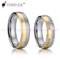 Diamante Exclusivos anéis dos dedos de aço inoxidável