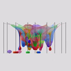 Piscina Subir Net corda de nylon crianças aventura de escalada interior esquerdo de malha