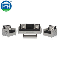 PE Rattan Weaving Patio Art Möbel Outdoor Sofa Set mit Kissen