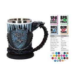 La resina Hand-Painted Juego de Tronos Mug