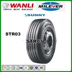 Commerce de gros de pneus de camion semi radial (385/55R22.5 385/65R22.5 425/65R22.5 STR03) Wanli Milever Sunny Paddy remorques pneumatiques
