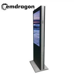 Atterrissage de l'écran Vertical Wind-Cooled Publicité de plein air 55 pouces de la machine Magic Mirror Player multipoints PC à écran tactile IR Totem affichage publicitaire