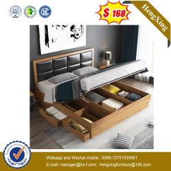 Het moderne Eenvoudige Tweepersoonsbed van het Meubilair van de Slaapkamer van het Hotel van het Huis van de Stijl Vastgestelde (Ul-9GD058)