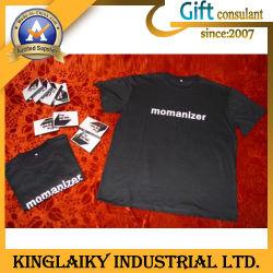100% 코튼이 있는 캐주얼 원형 넥 티셔츠 (KTS-003)