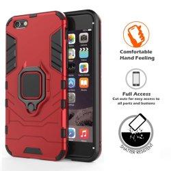 耐震性二重鉄の人の保護携帯電話の箱は調節可能な360度の回転リングブラケットが付いている反落ち、