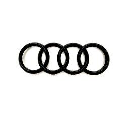 光沢のある黒い後部トランクのバッジはAudi A1 A3 A4 A5 A6のためのロゴの紋章を鳴らす