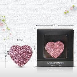 De roze Vorm van het Hart met het Parfum van de Auto van de Legering van de Klem van de Opening
