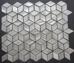 Rhomboic weißer Perlmuttshell-Mosaik-Fliese-Wand-Dekor