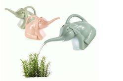 أدوات عالية الجودة للحديقة 2L PE الحيوانات الفيل البلاستيك المياه وعاء للري