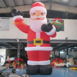 6x4m grote opblaasbare kersthuis Santa Grotto tent, Portatble Decoration House met volledige druk