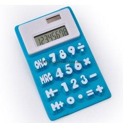 Silicone souple de gel de silice à 8 chiffres de la calculatrice en caoutchouc de la batterie
