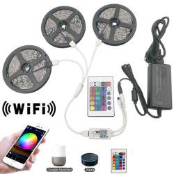 5m 10м 15m водонепроницаемый WiFi SMD5050 индикатор неоновых ламп полосы для корпуса телевизора подсветка ночная лампа LED диод